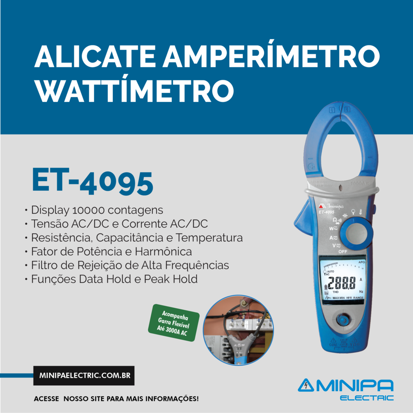 Alicate Wattímetro ET-4095